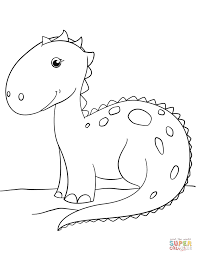 Click The Cute Cartoon Dinosaur Coloring Pages To View Printable