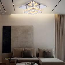 luxus licht wohnkultur licht kristall moderne decken le quadratische form k9 kristall decke licht wohnzimmer lobby glänzende buy moderne decken