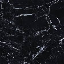 Black Background White Line Marble Floor Tile