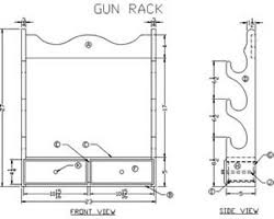 free gun rack plans woodworking plans and information at