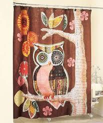 Cute Owl Car Floor Mats by Amazon Com Owl Friend Shower Curtain Art Deco Bathroom Decor