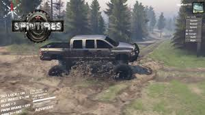 100 Ford Mud Trucks Spintires Trucks 6x6 Army Truck In River YouTube