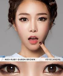 Prescription Halloween Contacts Astigmatism by Buy Neo Ruby Queen Brown Colored Contacts For Astigmatism Eyecandys