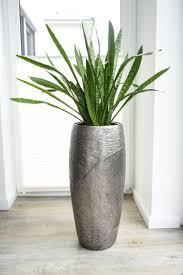 pflanzkübel pflanzgefäß fiberglas royal 73x33 cm silber