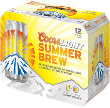 Coors Brewing Co Light Summer Brew 12 Pack Cans