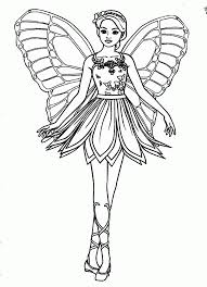 Free Barbie Fairy Coloring Pages