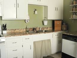 Sage Green Kitchen White Cabinets by Wood Painted Kitchen Cabinets Inspiring Home Design