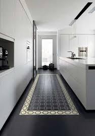 carreaux ciment cuisine cuisine design blanche sol carreaux ciment noir
