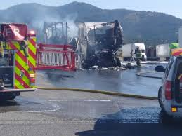 Semi Trucks Catch Fire At Flying J Truck Stop In Post Falls ...