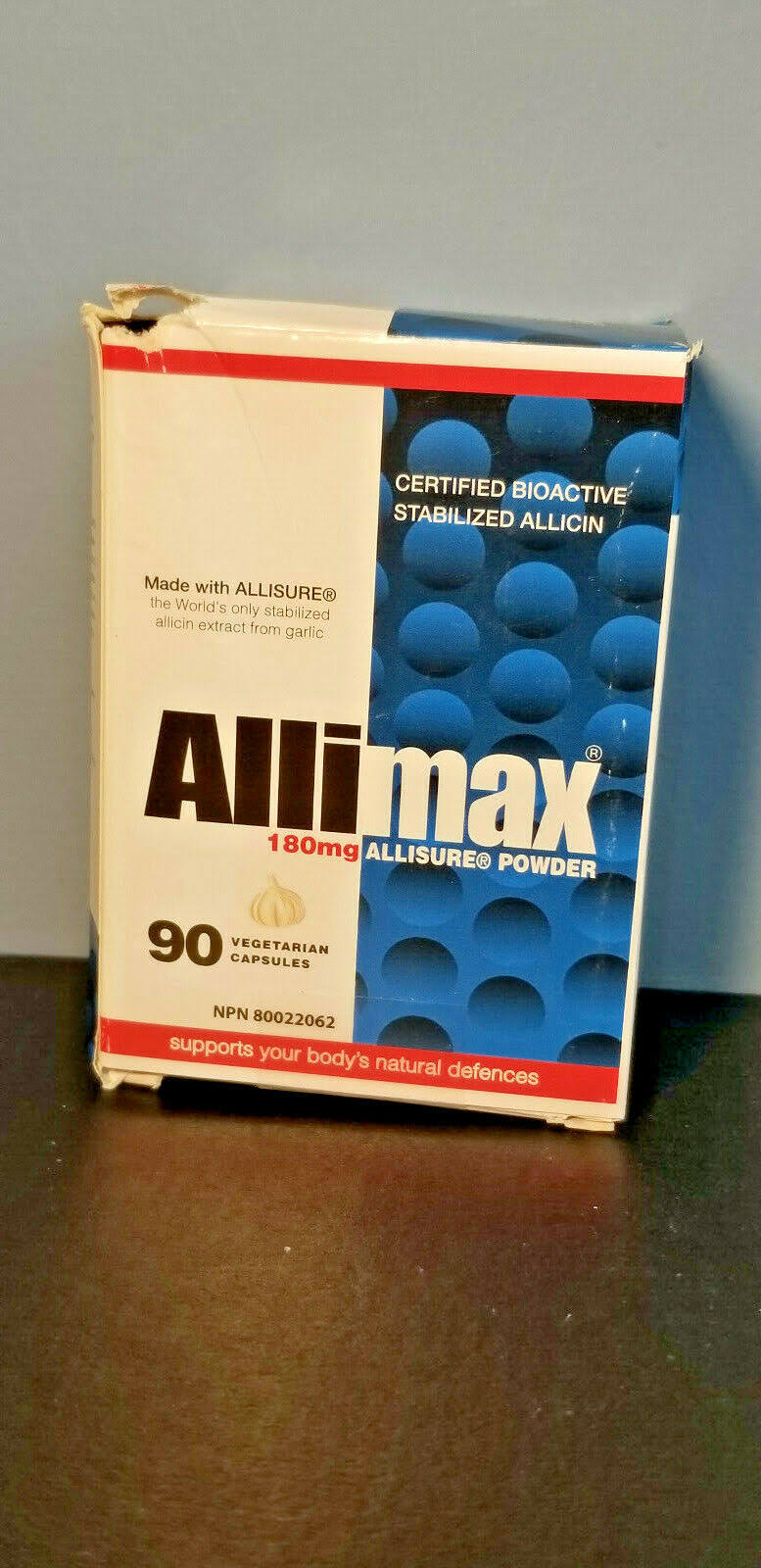 Allimax Nutraceuticals Allisure Powder 180 mg 90 Powder Capsules EXP 05/21