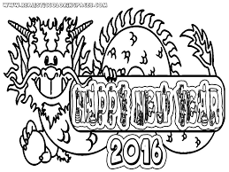 New Years Eve 2016 Coloring Pages Printable