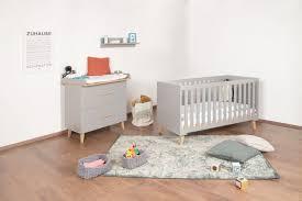 bellabino gora 3 tlg babyzimmerset 70x140 cm grau set aus umbaubarem babybett wickelkommode mit abnehmbarem wickelaufsatz 75x85 cm und wandregal