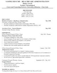 Health Care Aide Resume Objective Examples For Healthcare Medical Administrator Sample Administration A