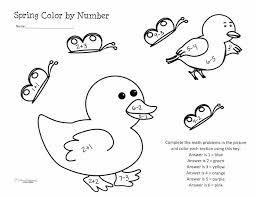 Spring Addition Worksheets For Kindergarten