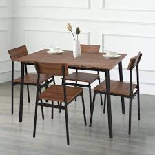 Amazon.com: KARMAS PRODUCT 5 Piece Wood Dining Table Set Home ... Live Edge Acacia Wood Iron 106 Ding Table W 5 Chairs Bench Signature Design By Ashley Charrell Piece Round Set Hooker Fniture Archivist With Pedestal Shop Picasso Pc Kitchen Table Set Leaf And 4 Plainville Settable Vintage Joanna Vintagrpjoannatbl5 Leg Side Detail Feedback Questions About Goplus Pcs Black Room Boconcept Granada Extendable Aptdeco Coaster Barzini Leatherette Mix Match 150041 Counter Height Dunk Costway Metal Canterbury Extension Noa Nani