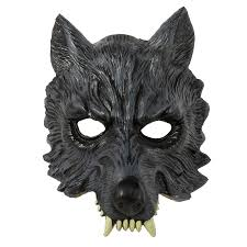Halloween Half Masks by Mens Big Bad Grey Werewolf Wolf Eva Half Mask Realistic Halloween