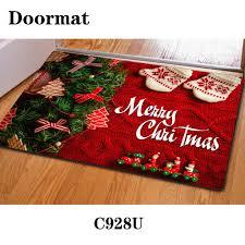 Christmas Red Bathroom Rugs by Aliexpress Com Buy Design 3d Print Front Door Mat Floor Carpet