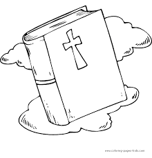 Holy Bible Religious Items Color Page Religion Coloring Pages Plate