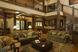 Great Room Rustic Living
