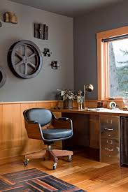 Industrial Wall Decor With Factory Accessories Home Office Rustic Desk