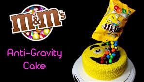 Cake Decoration Ideas With Gems by M U0026m U0027s Anti Gravity Cake Youtube