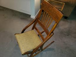 Antique Folding Rocking Chair Antique Appraisal   InstAppraisal Us 3690 Vintage Fniture Modern Wood Rocking Chair For Aged People Japanese Style Recliner Easy With Armrest Pulletout Ftstoolin Garden Antique Vintage Wood Folding Rocking Chair Rocker Floral Antique Folding Antique Appraisal Instappraisal Pair Of Rope Seat Chairs Splendid Comfortable Nursing Wooden Leather Armchair Vintage Wooden Folding Chair Victorian Upholstered Redwood Lawn Scdinavian Tapiovaara