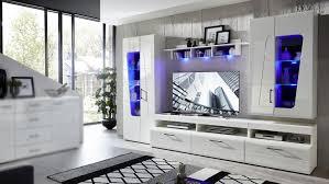 wohnwand spirit plus anbauwand wohnzimmer in weiß hochglanz