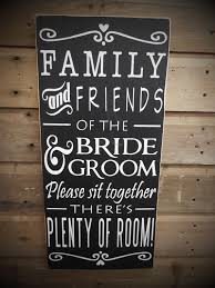 Friends Of The Bride Sign Choose A Seat Not Side Pick Wedding Seating Rustic Measures