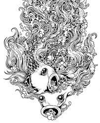 Doodle Invasion Sketchy Stories Animorphia Coloring Page For Adults Kleuren Voor Volwassenen Farbung