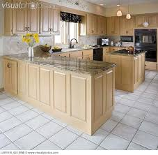 Kitchen With Light Maple Cabinets And Dark Countertops Horrible Flooring In This Thinking Of Smaller Pattern Floor Darker