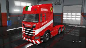 100 Ferrari Truck Scania S Next Generation Skin Trailer Mod For Euro