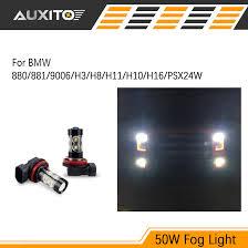 9006 h8 h11 h3 50w led car fog light drl l bulb for bmw e46 e39