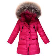 Winter Children Down Jackets Teenage Girls Jacket Fur Hooded Collar Medium Long Warm Kids Parkas Outerwear CFJ301 Outerwears Rc China