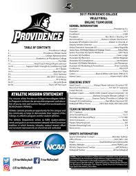 2017 providence college volleyball media guide by providence