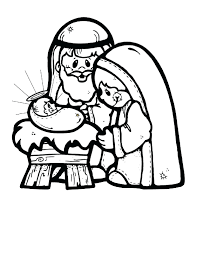 Christmas Story Coloring Pages Printable Nativity Scene Winter Download Free Kids Art Sheet Color Colouring