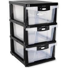 Plastic Drawers On Wheels by Plastic Storage Drawers Shelf 3 Levels With Slide Out Drawer