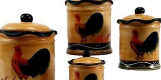 Country Rooster Canister Se Is A Fun And Popular Kitchen Decorating Theme Adding One Of These Sets