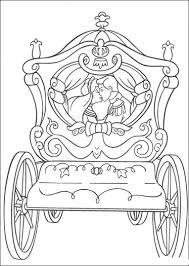 Cinderella And Prince Charming Kissing Coloring Pages
