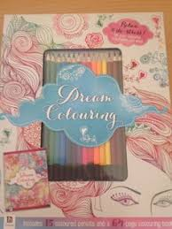 Adult Colouring Book And Pencils Pack Dream