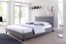 amazon com baxton studio hillary fabric upholstered platform bed