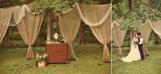 Romantic Outdoor Wedding Burlap Draping Ceremony Decor