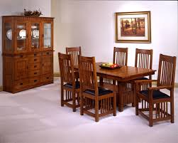 USA Made Mission Style Oak Dining Room Set