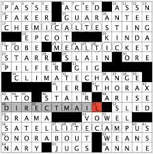 Heavy Curtain Fabric Crossword by Rex Parker Does The Nyt Crossword Puzzle College In Down Under