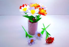 How To Make Paper Flower Easily Vase