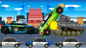 Car Truck And A Cop Car In A Police Chase Video - Cars For Kids ...