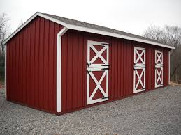 Shed Row Barns For Horses by 10 U0027x32 U0027 Shed Row Barn Painted Red And White Horse Barns Sales