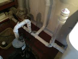 sump pump causes gurgle in utility sink vent
