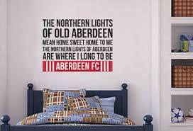 Aberdeen Football Club ficial Northern Lights Song Wall Sticker