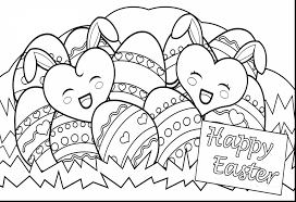 Amazing Coloring Pages Happy Easter With And Page Pdf