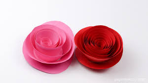 Easy Papercraft Rose Instructions